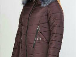 Пуховик зимний женский(50-52) с капюшоном, доставка по. ..