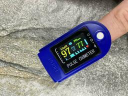 Пульсометр оксиметр на палец UKC X521 Blue (hub_qm8rdp)