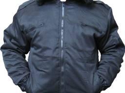 Черная куртка на синтепоне