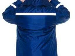 Рабочая куртка утепленная из плащевой ткани на синтепоне
