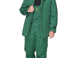 Куртка рабочая утепленная зеленая