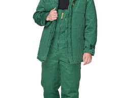 Куртка рабочая Зверь утепленная зеленая