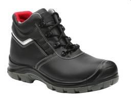 Рабочие ботинки из гладкой кожи с защитным подноском