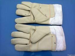 Рабочие перчатки кожаные утеплённые. Новые.