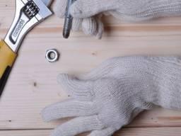 Рабочие перчатки трикотажные без точек