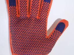 Рабочие трикотажные строительные х/б перчатки