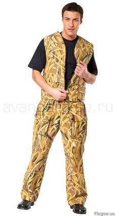 Рабочий костюм жилет брюки камуфляжный