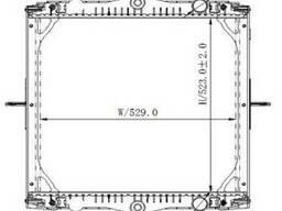 Радиатор без рамы ДАФ DAF LF45 (01 г. -) 1403273, 1407721