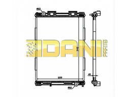 Радиатор без рамы MAN F90 / F2000 [94р-] (81061016437  . ..