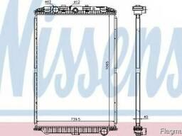 Радиатор DAF XF 105(05-)410 OE 1739550 Nissens 614470