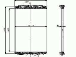 Радиатор DAF XF95XF-06г без рамки Nissens