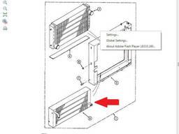 Радиатор масляный U4143238 (Oil Cooler) для Case 1188 LC