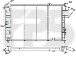 Радиатор охлаждения двигателя Opel Vectra A 1. 8, 2. 0. ..