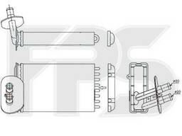 Радиатор печки Volkswagen T4 (Transporter) 1990-2003. ..