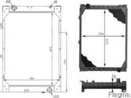 Радиатор системы охлаждения MAN 2 я серия 915*704
