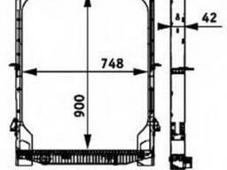 Радіатор з рамою Iveco ET [92р. -], ES [93р. -]. Новий