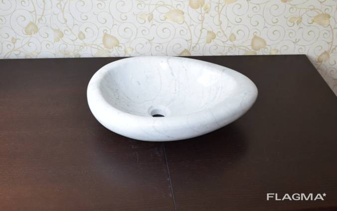 Раковина из натурального мрамора carrara marble