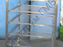 Рама коптильная тип Z 6 полок в комплекте с коптильными сетк