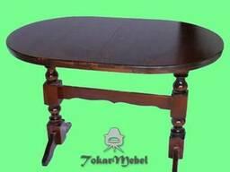Раскладной деревянный стол на 4 ноги, 240х90