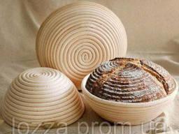 Расстоечная форма из ротанга на 0,5 кг круг, c чехлом