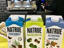 Растительные напитки. Молоко кокосовое, миндальное, ореховое (фундук), соя, овсяное