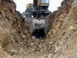 Разработка котлована, земляные работы, нивелир