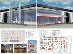 Разработка оформления магазинов и предприятий