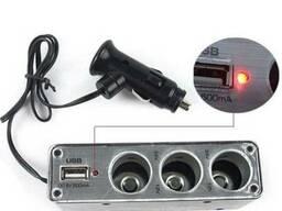 Разветвитель для прикуривателя с USB WF-0096