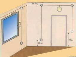 Разводка электрических проводов - ванная