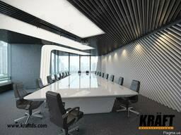 Реечный подвесной потолок- кубообразная рейка