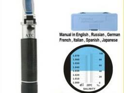 Рефрактометр RHS-10ATC для измерения уровня соли, солемер
