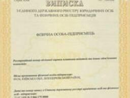 Регистрация ФОП (СПД, ФЛП) Киев, Бровары