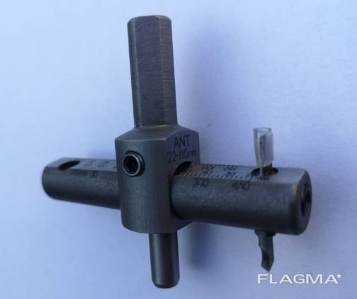 Регулируемое сверло по металлу ANT 22-110 мм, балеринка по металлу, бур.