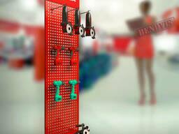 Рекламный стенд  для строительного инструмента в магазин