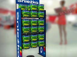 Рекламные стойки металлические для красок Sniezka