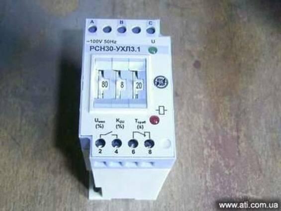 Реле контроля напряжения трехфазное РСН-30