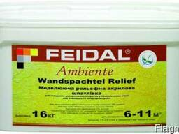 Рельефная шатлевка Ambiente Wandspachtel Relief Фейдал 16кг