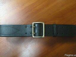 Ремень Офицерский, черный, пряжка никель