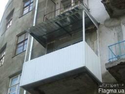 Ремонт балкона замена каркаса ремонт плиты балконной