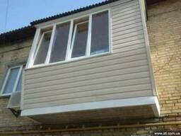 Ремонт балконов,вынос балкона,внутренняя и внешняя обшивка