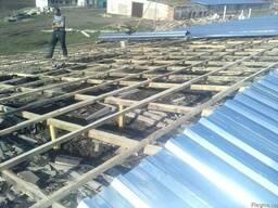 Ремонт крыш на ангарах, зернохранилищах