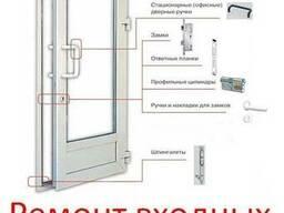 Ремонт входных дверей в Киеве. Замена уплотнителя.