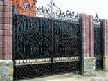 Решетка, дверь, забор, ворота, козырек, ляда, навес - фото 1