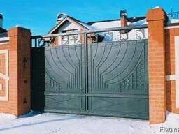 Решетка, дверь, забор, ворота, козырек, ляда, навес