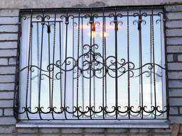 Решетки на окна, балконы, двери Изготовление Монтаж