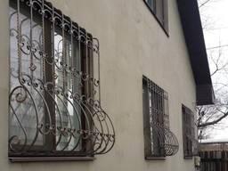 Решетки на окна, кованые оконные решетки. Мариуполь. .
