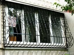 Решетки на окна, двери, балкон. Кованые и Сварные. Недорого