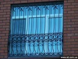 Решётки на окна сварные, кованные