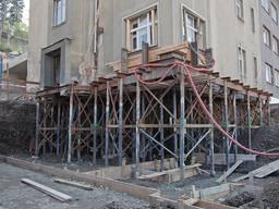 Реставрация фундамента здания посредством винтовых свай от завода-производителя