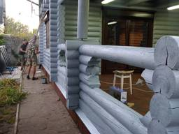 Реставрация срубов, в Днепре.